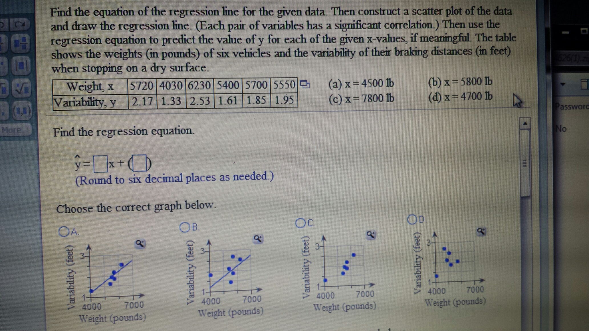 Regression homework