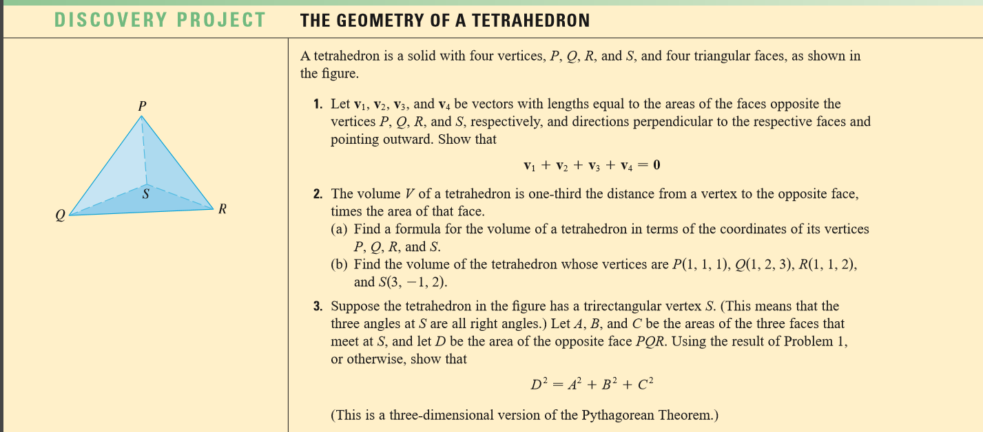 A Tetrahedron Is A Solid With Four Vertices, P, Q,