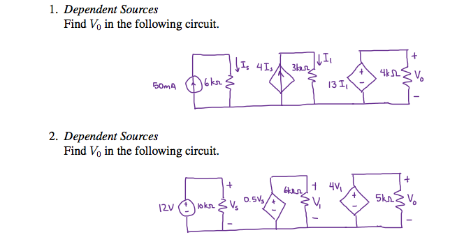 Dependent Sources Find V0 in the following circui