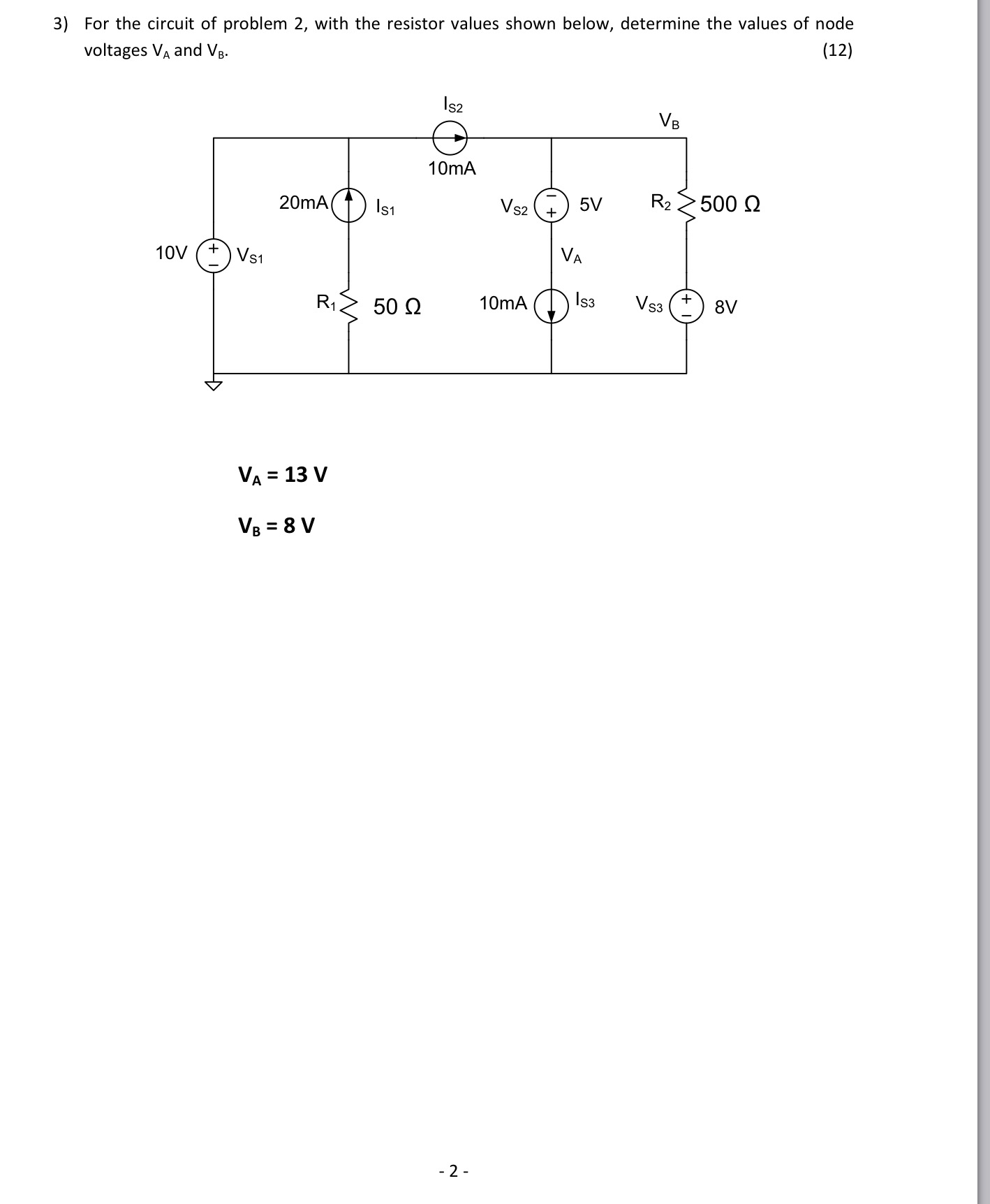 Determine the Norton equivalent circuit for the ne