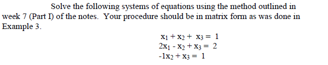 how to solve 4 equations with 4 unknowns using matrix