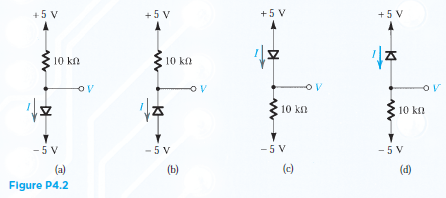 For the circuit shown in Fig. P4.2 using ideal dio