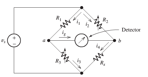 The Wheatstone bridge shown below is balanced with