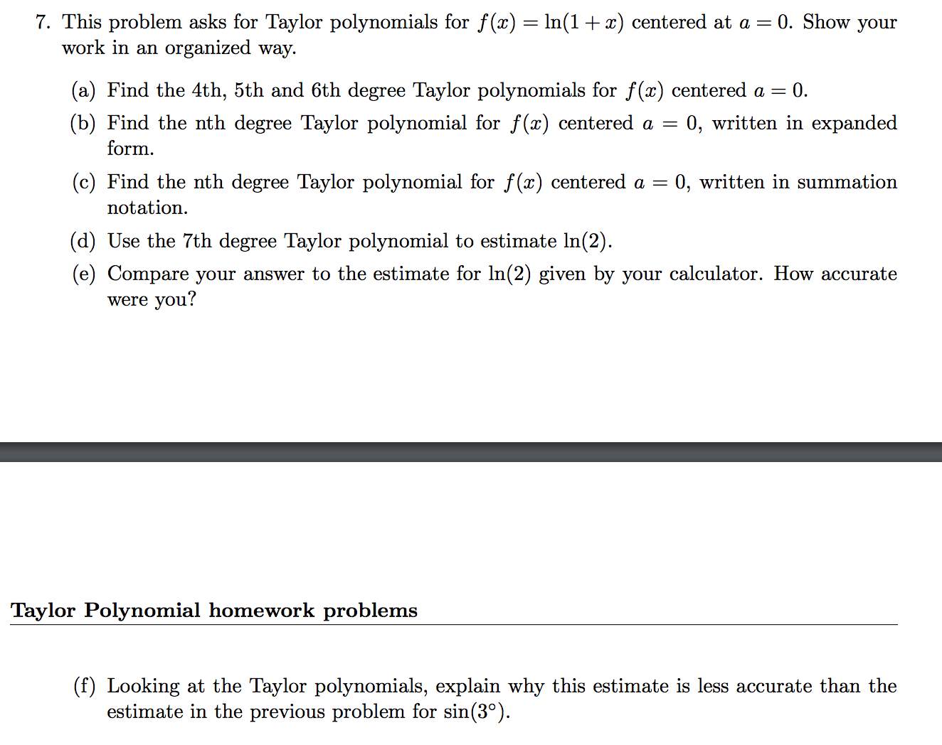Solved this problem asks for taylor polynomials for fx this problem asks for taylor polynomials for fx falaconquin