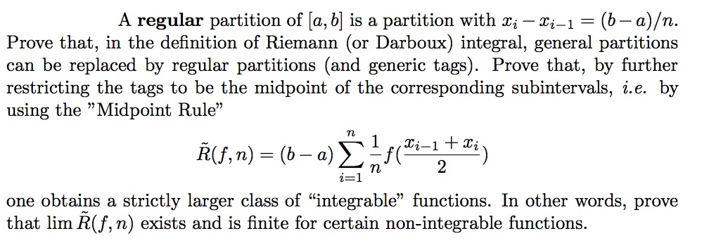 A Regular Partition Of [a, B] Is A Partition With Xi   I