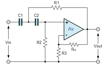 I am designing a second order bandpass filter (put