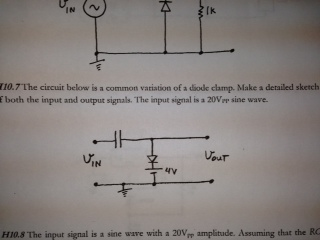 The circuit below is a common variation of a diode