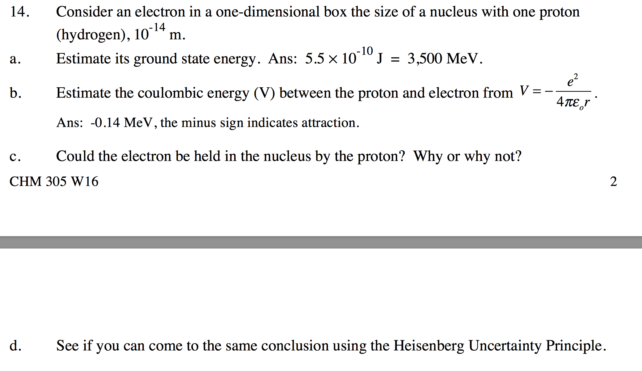 Consider An Electron In A One-dimensional Box The ...   Chegg.com