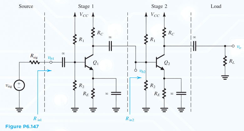 the amplifier of fig  p6 147 consists of two ident