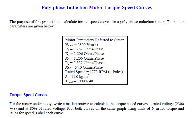The purpose of this project is to calculate torque chegg poly phase induction motor torgue speed curves the purpose of this project is to ccuart Image collections