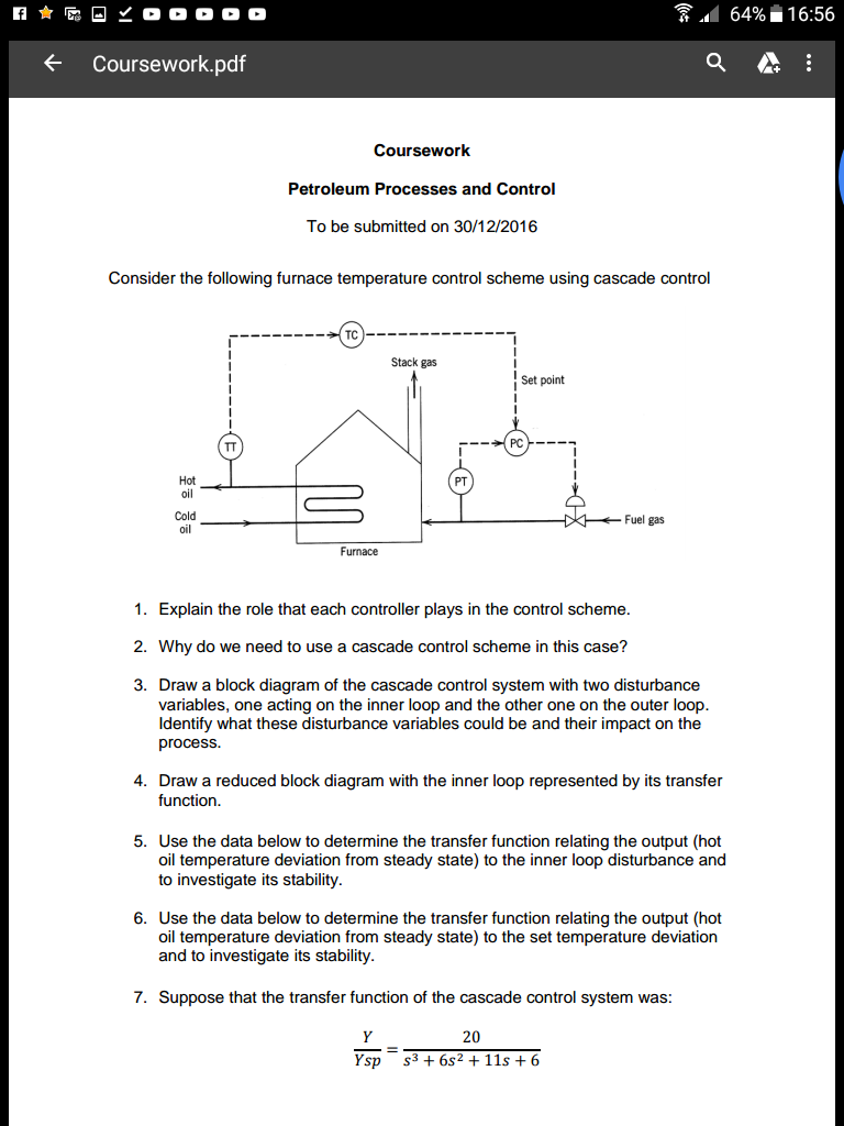 Comfortable cascade control system block diagram photos solved consider the following furnace temperature control pooptronica Images