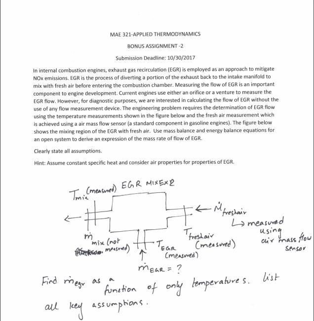mae applied thermodynamics bonus assignment com mae 321 applied thermodynamics bonus assignment 2 submission deadline 10 30