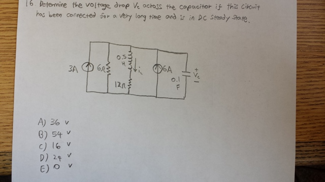 Determine the voltage drop Vt across the capacitor