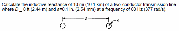 Calculate the inductive reactance of 10 mi (16.1 k