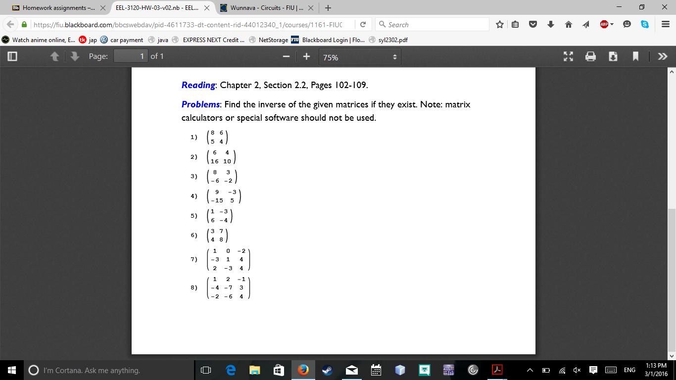 Bb Homework Assignments     X EEL      HW    v   n      Chegg com
