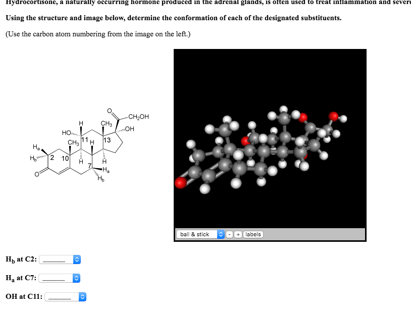 Solved Hydrocortisone A Naturally Occurring Hormone Prod