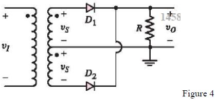 The full-wave rectifier circuit shown in Figure 4