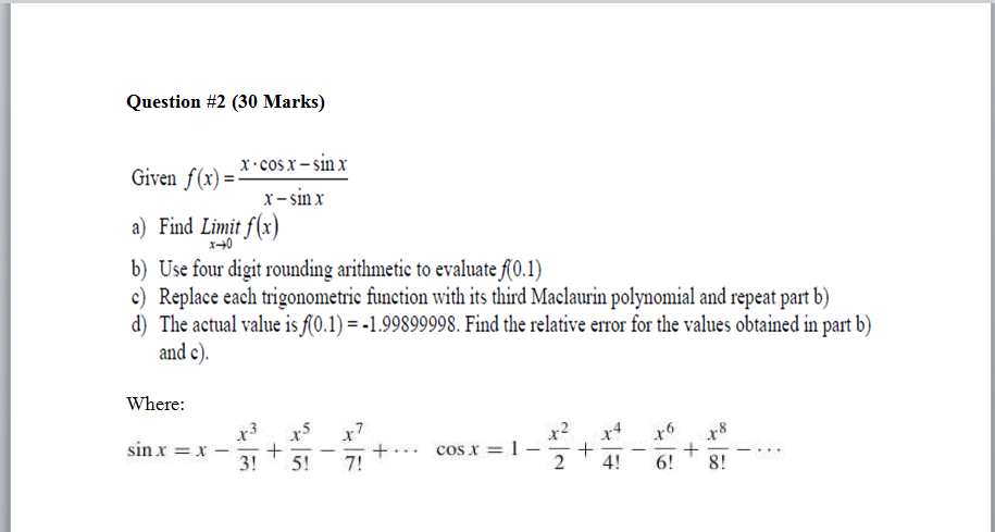 calculus - Finding the marked values of x on a graph - Mathematics ...