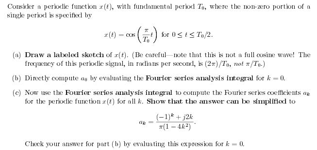 Consider a periodic function s(t), with fundamenta