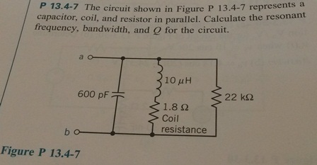 The circuit shown in Figure P 13.4-7 represents a