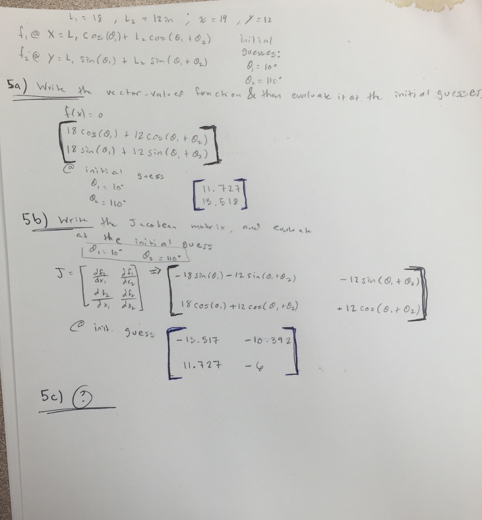 linear algebra help please help me part 5c com i understand how to solve the problem until part 5c please show the alogrithm used to get the final answer please show all work so i can understand