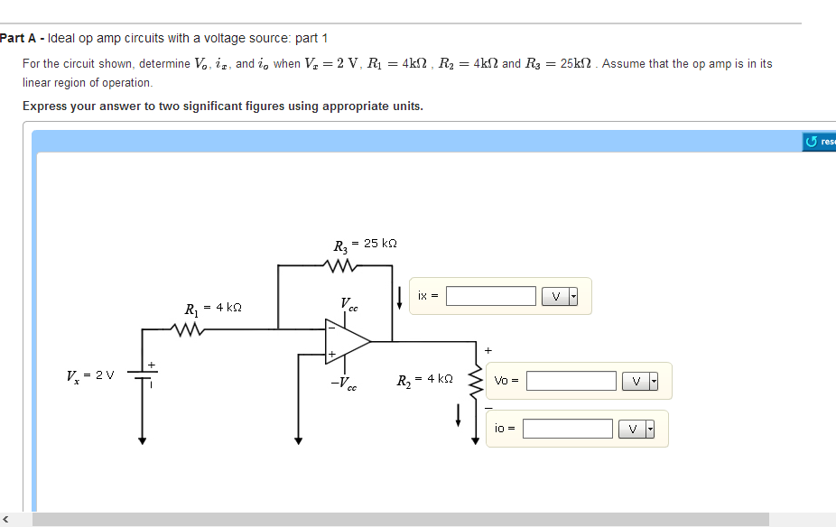 Ideal op amp circuits with a voltage source: part