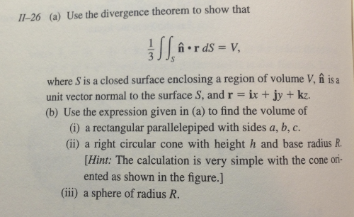 Use the divergency theorem to show that where S i