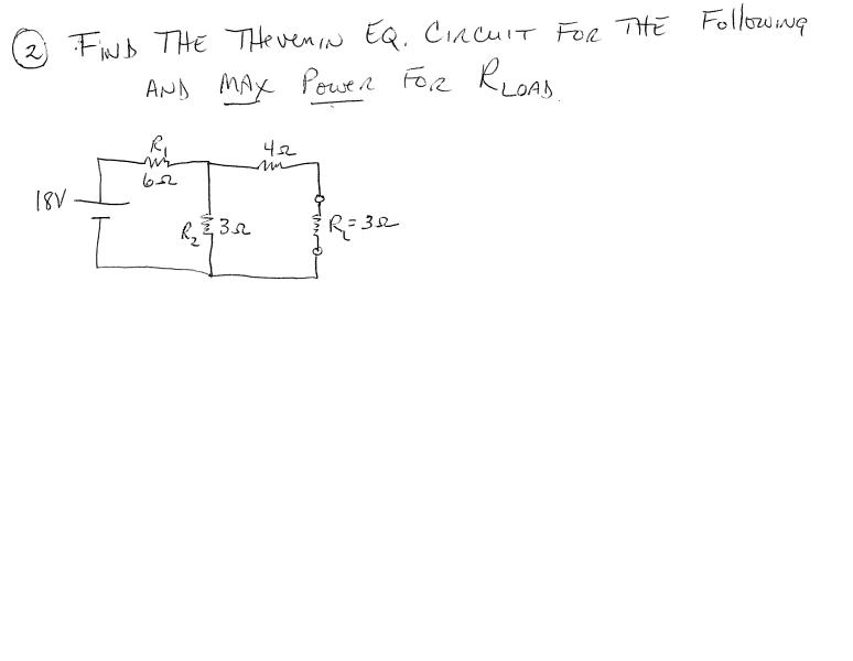 Find the thevemin Eq. circuit for the following an