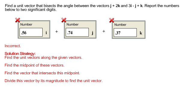 Find A Unit Vector That Bisects The Angle Between ... | Chegg.com