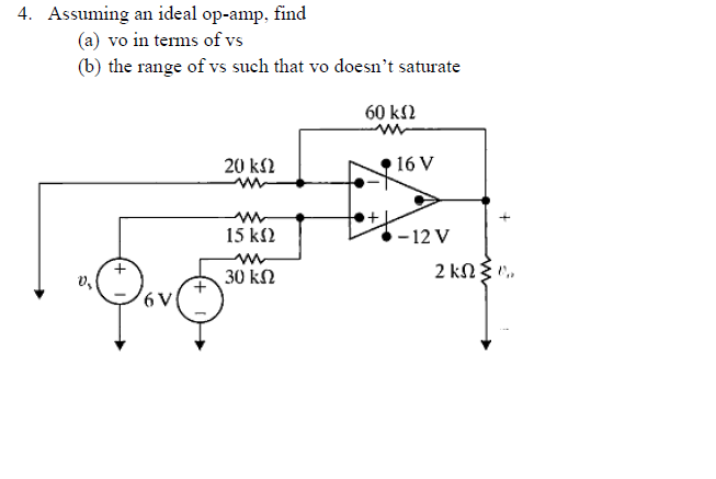 Solved Assuming An Ideal Op Amp What Value Of Rx Will Re