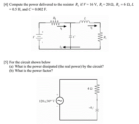 Compute the power delivered to the resistor R2 if