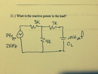 What is the reactive power on the load?