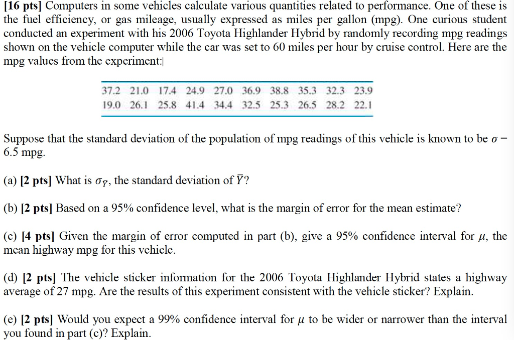 how to calculate gas per mile