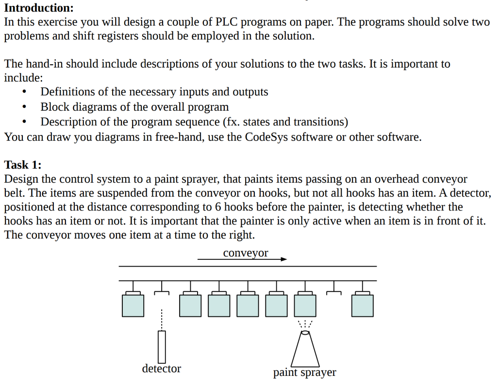 Introduction in this exercise you will design a c chegg introduction in this exercise you will design a couple of plc programs on paper pooptronica Gallery