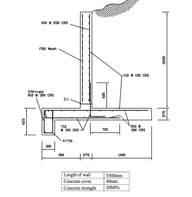 rcc retaining wall design pdf