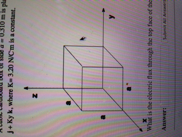 What is the electric flux to the top face of the f