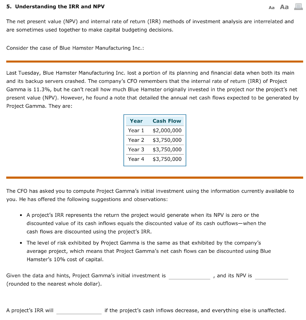 npv irr case study Roi case study automation anywhere  net present value (npv) (12,031)  3-year irr 337% 337% financial assumptions.