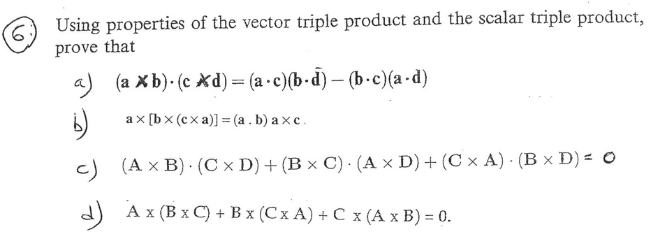 Using Properties Of The Vector Triple Product And ... | Chegg.com