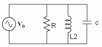 In the following circuit,L2= 4.1 mH, R= 8.5 Ohm, C