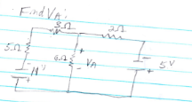 In the below circuit find Va using SUPERPOSITION.