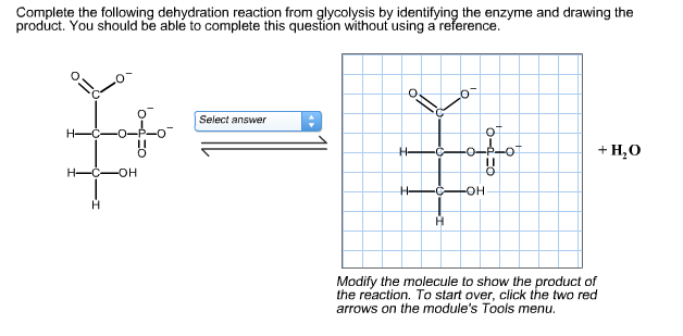 Solved complete the following dehydration reaction from g image for complete the following dehydration reaction from glycolysis by identifying the enzyme and drawing the publicscrutiny Gallery