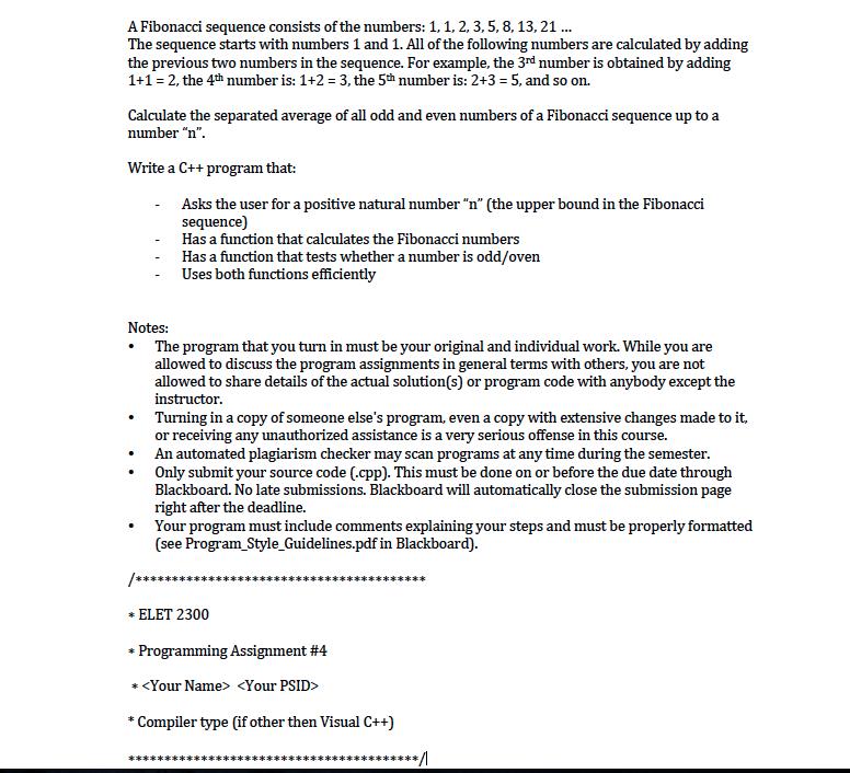 Fibonacci sequence essay