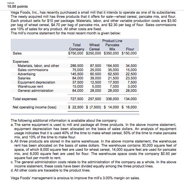 Required 1 Prepare A New Contribution Format Seg – Contribution Income Statement