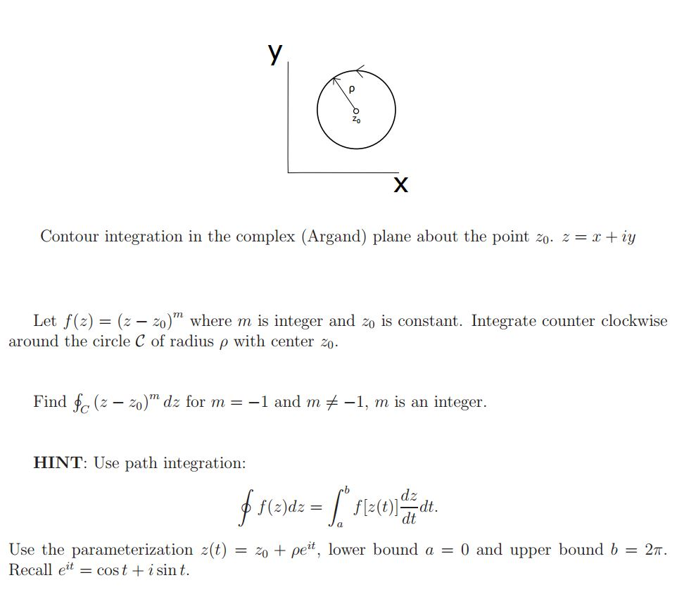 Solved contour integration in the complex argand plane contour integration in the complex argand plane pooptronica Choice Image