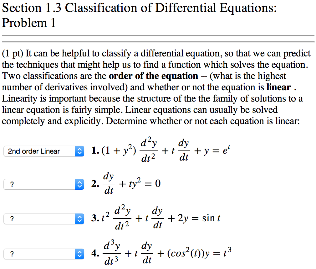 differential equations coursework help simple subjects and differential equations a first order ordinary differential equation ode can if you need help related to the differential equation then assignmenthelp net