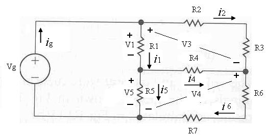 In the circuit Vg is 125 V, R2 is 9 Ohm, R3 is 6 O