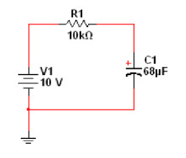 For the RC circuit given below, determine the time