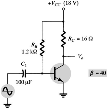 Calculate the input power dissipated by the circui