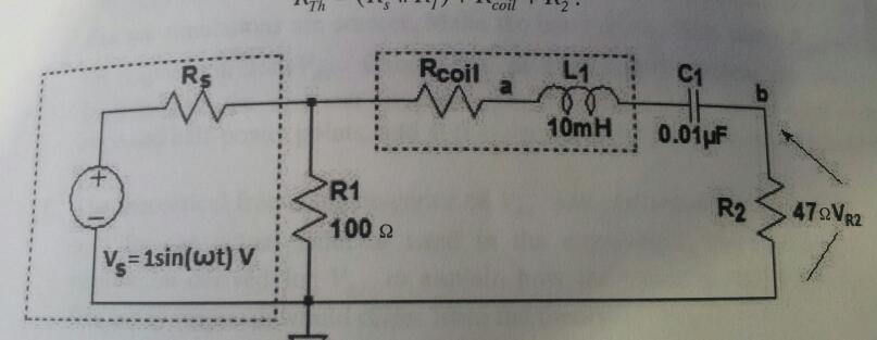 Use voltage divider approach to derive an expressi
