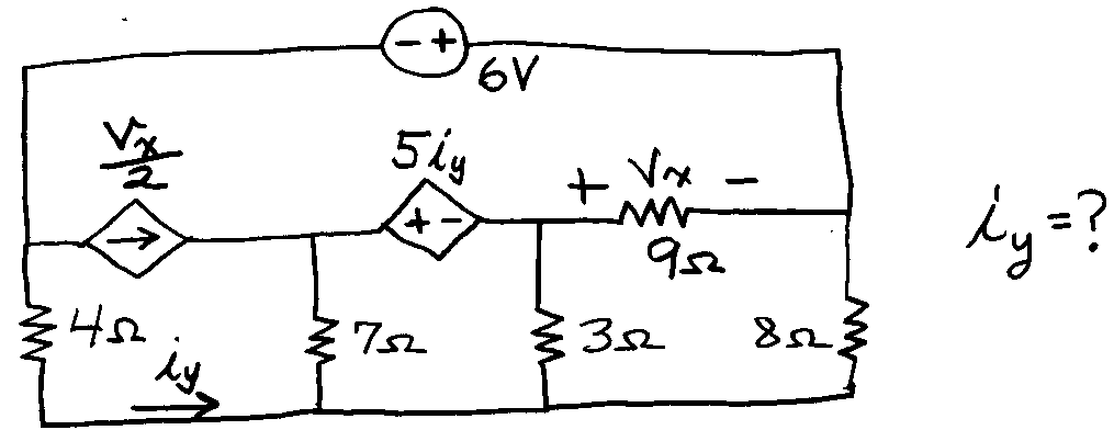 Circuit is below: Using nodal analysis ONLY, solv